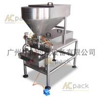 廣州華川HCHS-2600B雙頭半自動柱塞式灌裝機 醬料膏體