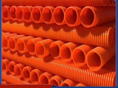 河北佰杭橘色电力单壁波纹管耐温性能好